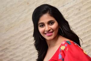 Vakeel Saab Actress Anjali Cute Images in Red Churidar