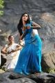 Actress Anjali Hot Blue Saree Photos in Masala Movie