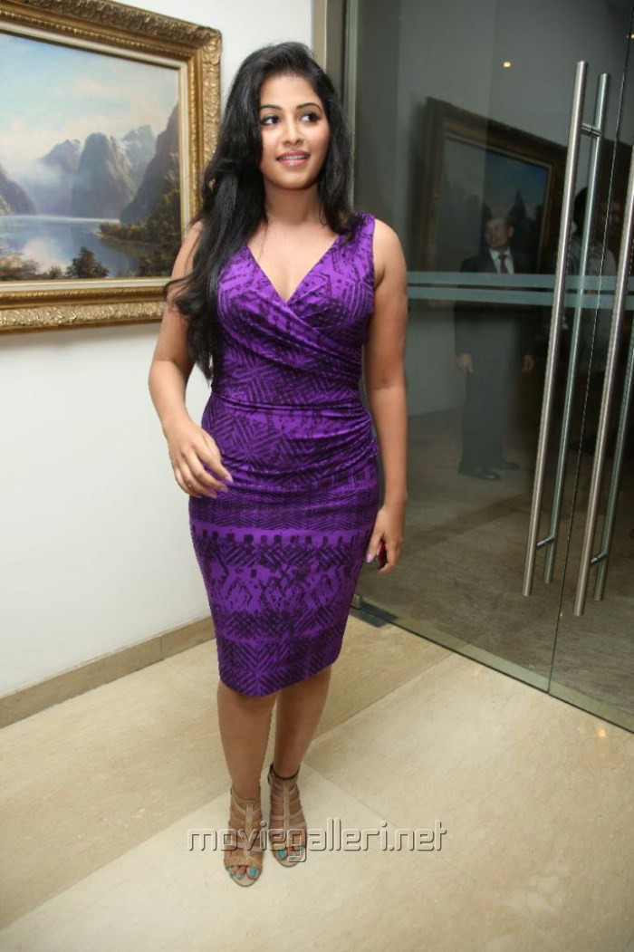 Actress Anjali Hot Pictures in Violet Tight Skirt