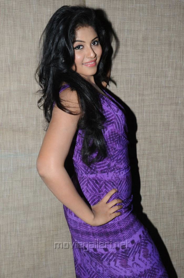 Telugu Actress Anjali Hot Pictures in Violet Tight Skirt