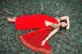 Anjali Hot Red Saree Stills in Kalakalappu