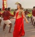 Hot Anjali in Red Saree from Kalakalappu