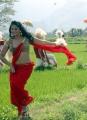 Masala Cafe Movie Anjali Hot in Red Saree Stills
