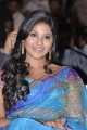 Actress Anjali Blue Saree Photos at SVSC Movie Audio Release