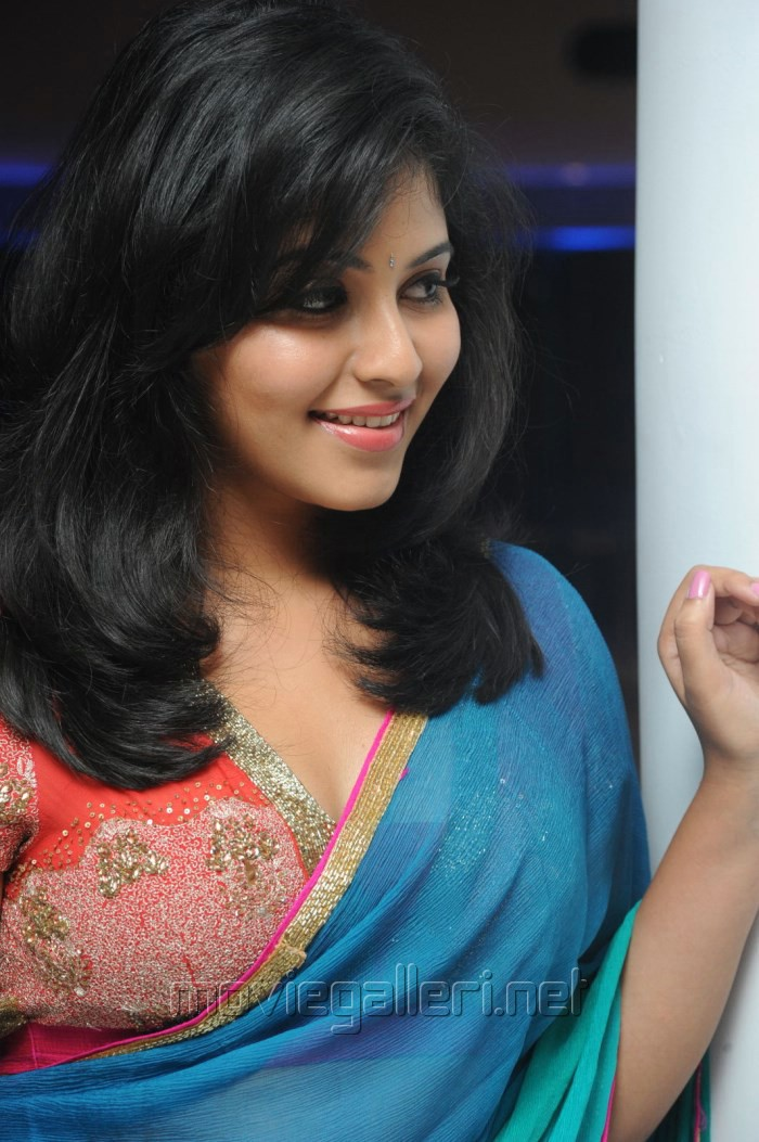 Picture 581742  Actress Anjali Hot In Saree Stills  Masala Audio Release  New Movie -9878