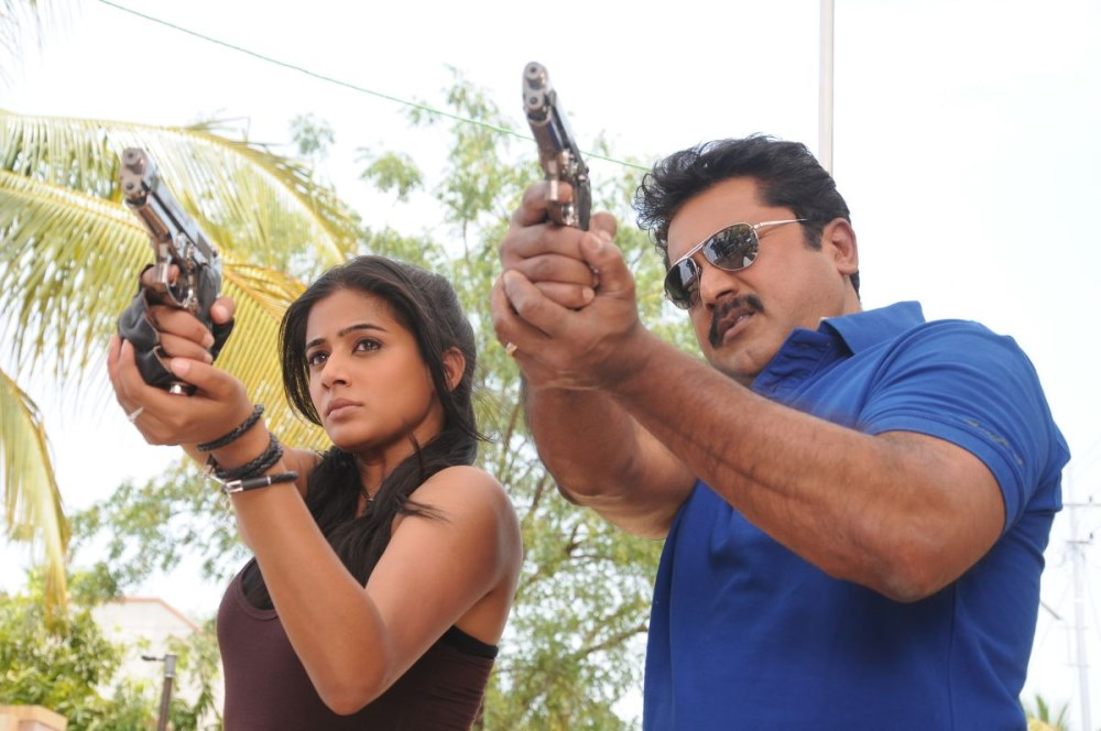 Priyamani, Sarathkumar in Anjathey Chandi Movie Stills