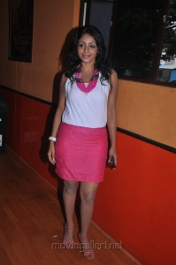 Tamil Actress Ankitha Hot Stills in White Top & Pink Skirt