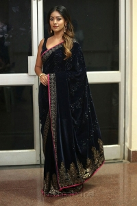 Actress Anu Emmanuel Blue Saree Photos HD @ Shailaja Reddy Alludu Pre Release
