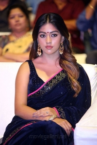 Actress Anu Emmanuel Hot Blue Saree Photos HD @ Shailaja Reddy Alludu Pre Release