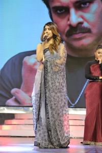Actress Anu Emmanuel Hot Saree Photos @ Agnathavasi Audio Launch