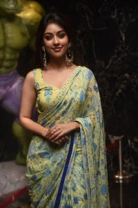 Actress Anu Emmanuel Saree Photos @ Maha Samudram Trailer Launch