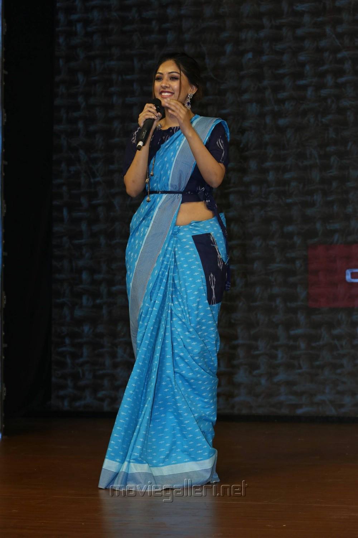 Telugu Actress Anu Emmanuel Stills @ Woven 2017 Fashion Show