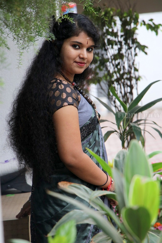Actress Anu Krishna Saree Latest Photos