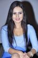 Actress Anu Smruthi in Super Hot Blue Dress at Ishta Sakhi Audio Release