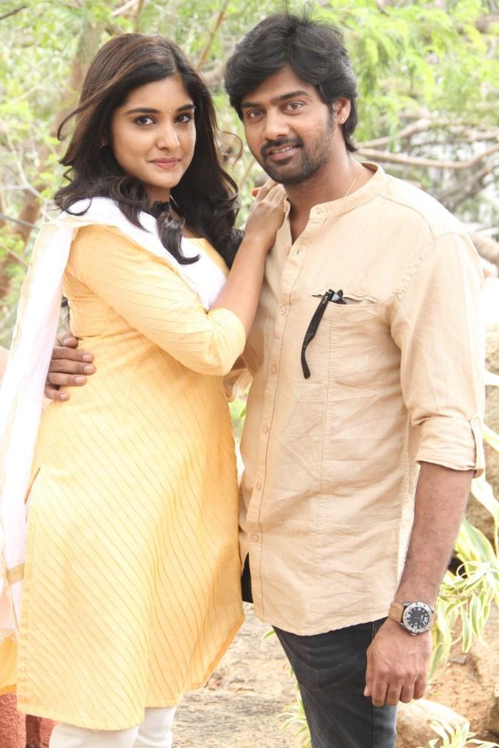 Niveda Thomas, Naveen Chandra @ Anurag Productions No.1 Movie Opening Stills