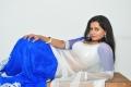 Actress Anusha Hot in Transparent Saree Photos