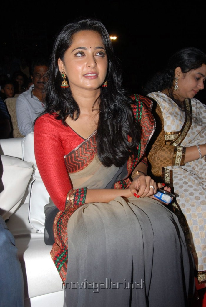 Anushka Saree Photos at Mirchi Movie Audio Release