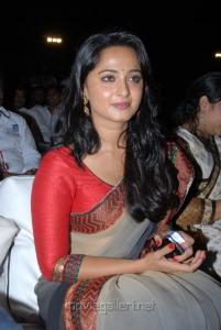 Actress Anushka Cute Saree Photos at Mirchi Movie Audio Release