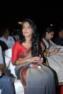 Anushka Saree Photos at Mirchi Movie Audio Release