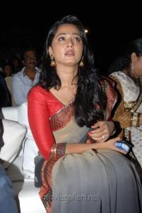 Actress Anushka New Saree Photos at Mirchi Audio Release