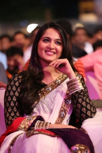 Actress Anushka in Saree Photos @ Baahubali Audio Release
