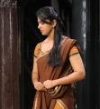 Actress Anushka in Half Saree Cute Stills in Damarukam
