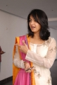 Actress Anushka New Cute Images in White Cotton Kameez