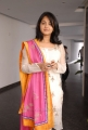 Actress Anushka in White Cotton Kameez Cute Images