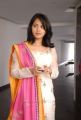 Anushka Shetty Cute Images in White Cotton Kameez