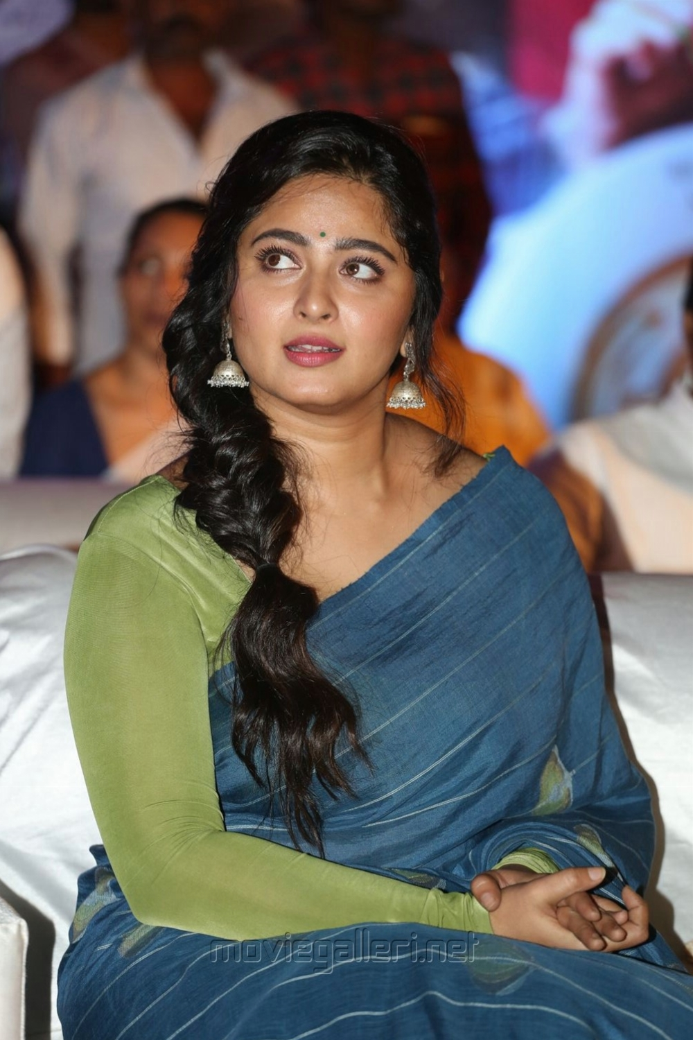 Actress Anushka Saree Latest Photos @ Awe Pre Release