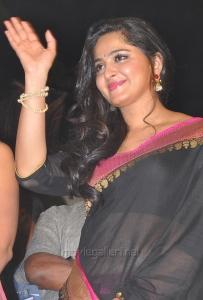 Actress Anushka Shetty Saree Pics @ Rudramadevi Audio Launch