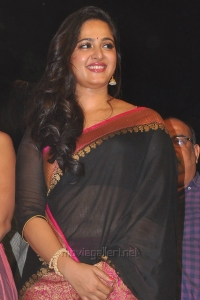 Actress Anushka Shetty Saree Pics @ Rudramadevi Audio Release