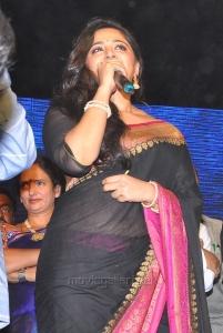 Actress Anushka Hot Saree Pics @ Rudramadevi Audio Release
