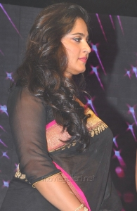 Actress Anushka Saree Pics @ Rudramadevi Audio Launch