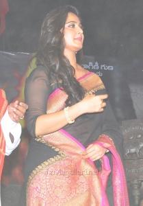 Actress Anushka Saree Pics @ Rudramadevi Audio Release