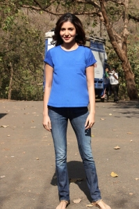 Cute Anushka Sharma Photos @ NH10 on the sets