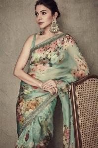 Actress Anushka Sharma Saree Pictures
