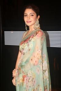 Actress Anushka Sharma Saree Pictures @ NBT Utsav Awards 2019 Red Carpet