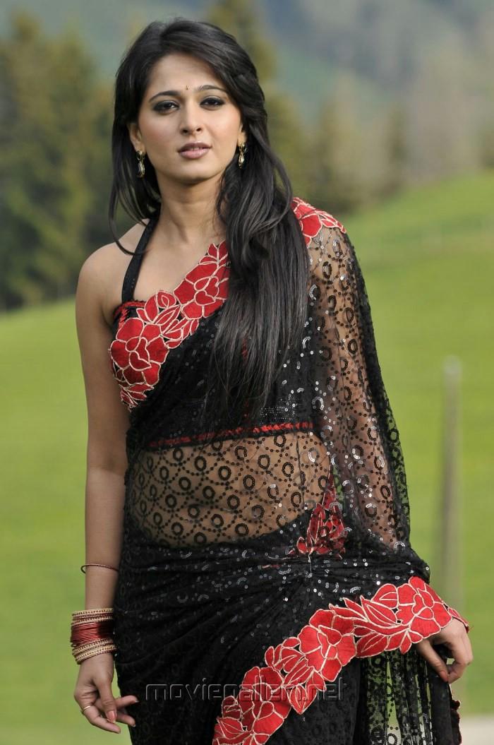 Picture 399483   Damarukam Heroine Anushka Shetty in Black Saree ...