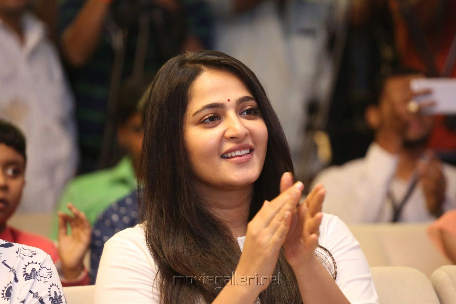 Actress Anushka Shetty Latest Cute Photos @ Baahubali 2 Press Meet