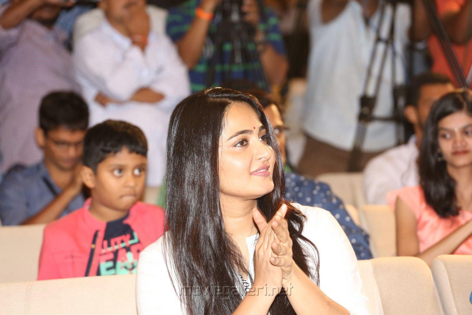 Actress Anushka Shetty Cute Photos @ The World of Baahubali Press Meet