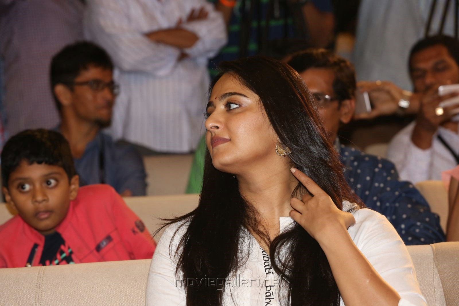 Actress Anushka Latest Cute Photos @ The World of Baahubali Press Meet