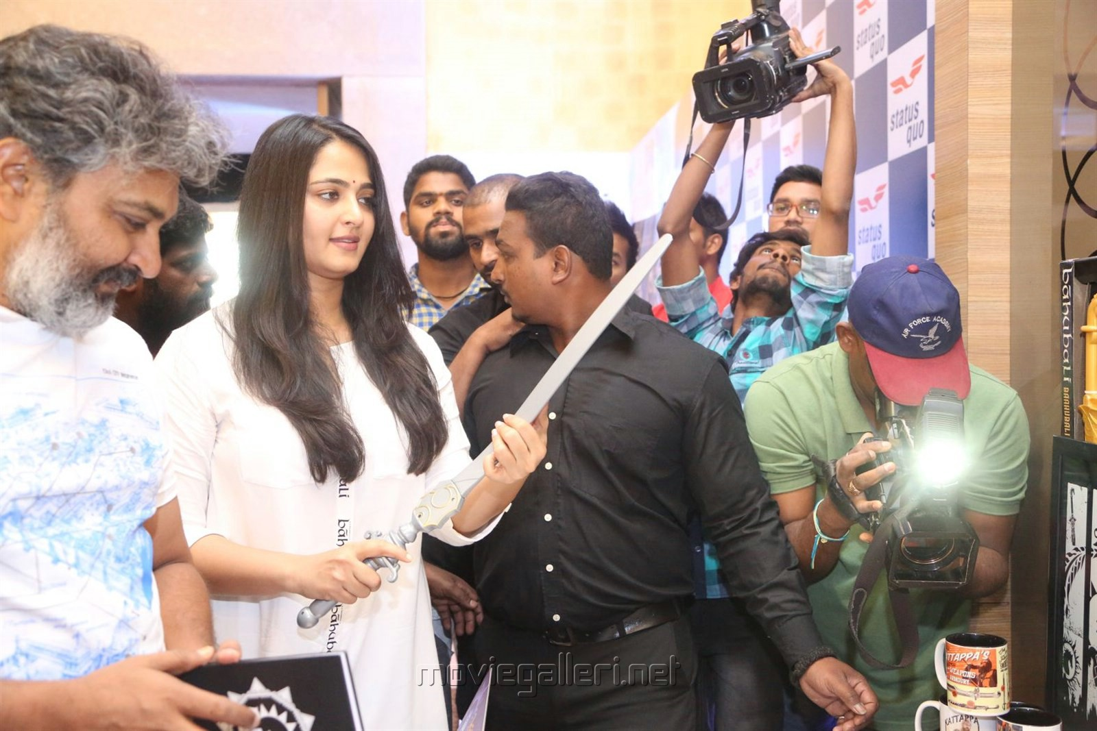 Actress Anushka Shetty Latest Cute Photos @ The World of Baahubali Press Meet