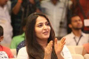 Actress Anushka Latest Cute Photos @ The World of Baahubali Press Meet