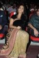 Actress Anushka Shetty Stills in Black Saree @ Varna Audio Function