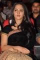 Anushka Stills in Black Saree At Verna Movie Audio Launch
