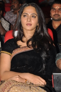 Actress Anushka Black Saree Stills @ Varna Audio Launch