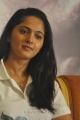Actress Anushka Shetty in White T-Shirt Photos @ Irandam Ulagam Press Meet