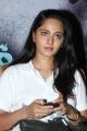 Actress Anushka White T-Shirt Photos @ Irandam Ulagam Press Meet