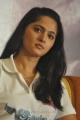 Tamil Actress Anushka Shetty Cute in White T-Shirt Photos